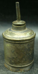 Antique Small Brass Oil Lamp Lantern 39 Whale Oil Travel Camp B2