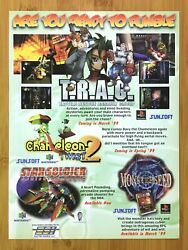 1999 SUNSOFT T.R.A.G. Chameleon Twist 2 Monster Seed PS1 N64 Print Ad Poster
