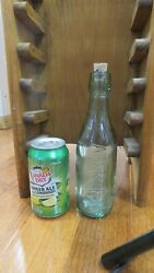Vintage Glass Lemonade Bottle - Scottish- Hay And Sons Aberdeen - 9 1/2 Inches