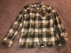 Rvca Multi-color Plaid Flannel Button Down Long Sleeve Shirt Size Small