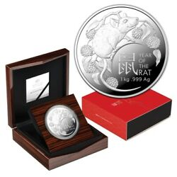 Rare 2020 Lunar Year Of The Rat Ram 1 Kg Silver Coin 39 Of Tiny 100 Mintage
