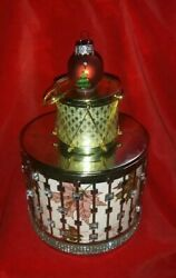 CANDLE Lid TOP DRUM W bulb ORNAMENT for BATH amp; BODY WORKS 3 wick