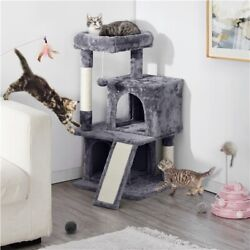 Cat Tree Tower 34quot; Activity Center Large Playing House Condo for Cats Kittens