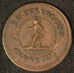 Civil War Token - Knickerbocker Currency - Good For One Cent - Free Ship Us