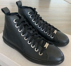700 Jimmy Choo Black Colt High Tops Sneakers Size Us 9 Made In Italy