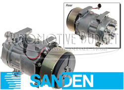 A/c Compressor W/clutch For Case/ih And Ford/new Holland Tractors - New Oem