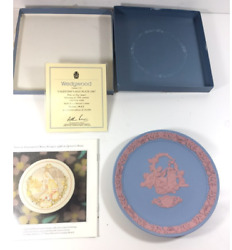 Wedgewood Jasperware Valentineandrsquos Day Limited Edition Plate Blue 1987