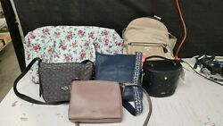Mixed Lot of 6 Designer Bags Damaged Sold As Is $99.99
