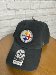 Pittsburgh Steelers '47 Brand Clean Up Adjustable Hat New With Stickers Dad Hat