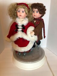 Vintage Santa's Best Animated Collectables Skating Couple Christmas Works