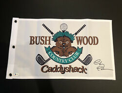 Chevy Chase Signed Autographed Caddyshack Bushwood Cc Golf Pin Flag Beckett Bas