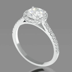 1 1/2 Carat Solitaire Round Cut Diamond Engagement Ring F/si1 18k Rose Gold