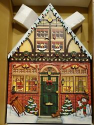 New Byers Choice Traditions Wooden House Advent Calendar