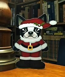 Boston Terrier Mr Santa Christmas 7quot; Decor