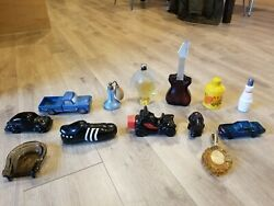 Lot Of 13 Vintage Avon Aftershave Cologne Perfume Bottles And Ashtray