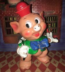 Walt Disney Productions The Three Little Pigs Rubber Doll Vintage