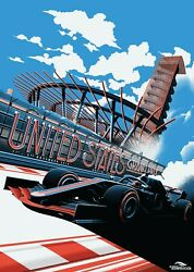 2019 United States Grand Prix At Circuit Of The Americas Poster Zoom