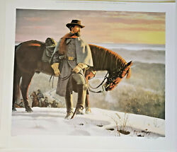 Nathan Bedford Forrest, Escape From Fort Donelson David Wright Ltd Ed. 19 X 23