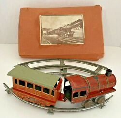 Pre War Germany Antique Tin Wind-up Train Set Original Box Almost 100 Years Old