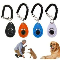 5/10xpet Dog Training Clicker Cat Puppy Button Click Trainer Obedience Aid Wrist