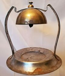 Hotel Brass Bell Business Card Candy Tray Deco Arts And Crafts Art Nouveau Antique