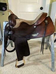 Used Mitch Harrison Trail Schooling Western Saddle 17quot;
