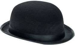 Black Derby Hat - Exquisite 19th Century Black Derby Hat - Fits Kids And Adults-