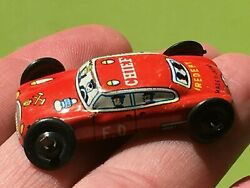 Vintage 1950's Small German Fire Chief Tin Car