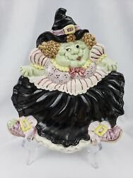 Vintage Fitz And Floyd 1992 Witch Plate Collectible Decorative Halloween