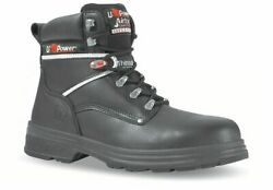 U-power Performance Mens Waterproof/thermal Black Leather Safety Boots