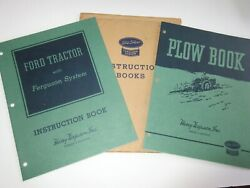 Rare Ford Tractor Ferguson System 9n And Plow Manuals New Old Stock W/envelope