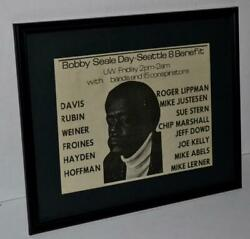 BLACK PANTHERS 1970 BOBBY SEALE BENEFIT SEATTLE PROTESTS FRAMED PROMOTIONAL AD