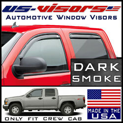 Us-visors 2004-2012 Chevy Colorado In-channel Window Vent Visors Rain Guards 4pc