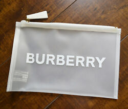 Burberry Pouch Clutch Makeup Cosmetic Bag White $20.00