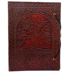 Large Tree of Life Leather Journal Bound Leather Journal Leather Journal to