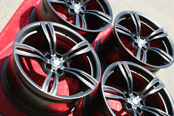 4- 20 Inch Factory Oem Bmw M6 Wheels Style 343 Forged Original In Semi Gloss