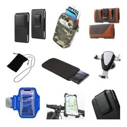 Accessories For Huawei Fusion U8652 Sock Bag Case Sleeve Belt Clip Holster A...