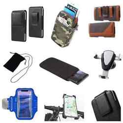Accessories For Iphone 5c A1529 Sock Bag Case Sleeve Belt Clip Holster Armba...