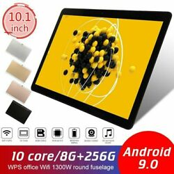 2020 10.1 Wifi Tablet Android 9.0 Hd 8g+512g 10 Core Pc Google Gps+ Dual Camera