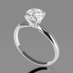 3/4 Ct Diamond Engagement Ring Round Cut D/vs1 14k Yellow Gold Size 6