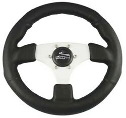 Schmitt Marine Steering Steering Wheel Black W/ Brushed Aluminum Spoke
