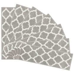 Msrugs Trellis Collection Contemporary Soft Cozy Area Rug Or 7 Pc. Stair Treads