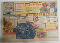 Ralston Cereal Ad Tom Mix Aluminum Silver King Bike 1948 Size11 X 15 Inches