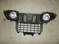 2007 Yamaha Grizzly 450 4x4 Left Right Front Head Lights Plastic Grill / Scuffs