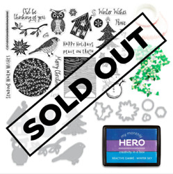 Hero Arts My Monthly Hero November 2020 Card Kit Stamps Dies Owl Sold Out
