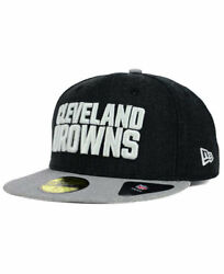 Cleveland Browns Nfl Heather Action 2-tone New Era 59fifty Fitted Hat 7 1/2 Mens