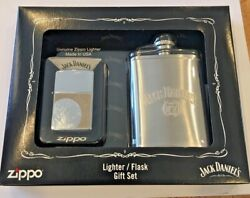 Zippo 24652 Jack Daniels N07 Lighter And Matching Flask