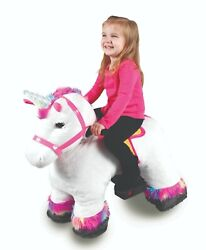 Ride On Plush Toy Unicorn Or Pony 6v For Kids With Authentic Sound Effects