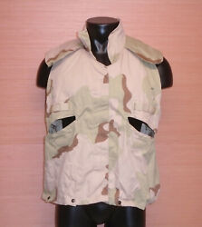 Us Military Issue Desert Dcu 3 Color Pasgt Flack Vest Cover Size Small Medium