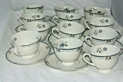 Royal Doulton Old Colony England Tc-1005 11 Saucer Plate And 12 Tea Cups
